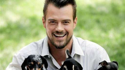 Josh Duhamel with his dog Zoe and other