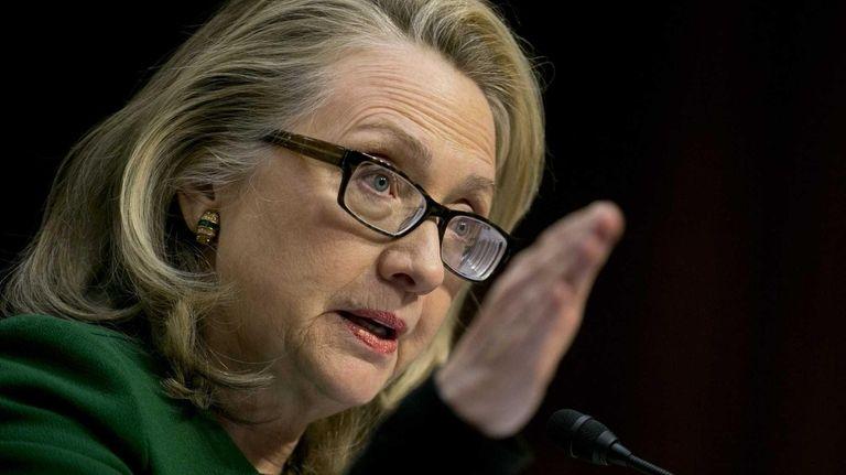 Secretary of State Hillary Rodham Clinton speaks during