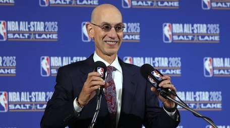 NBA Commissioner Adam Silver speaks during a news