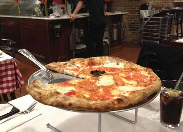 The Margherita pizza is a classic New York