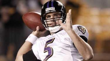 Joe Flacco of the Baltimore Ravens on November