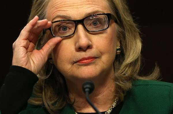 Secretary of State Hillary Clinton testifies before the