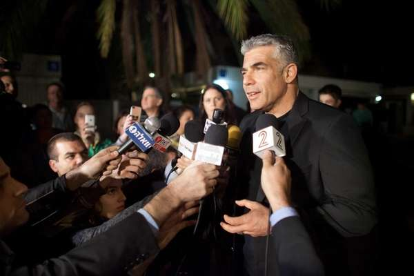 Yair Lapid, leader of the Yesh Atid party,