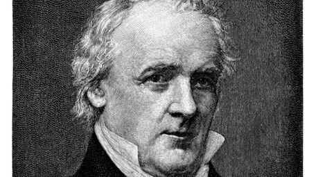 An engraving of President James Buchanan circa 1887.