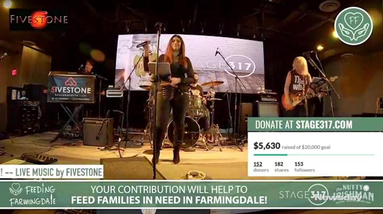 Diane Wagner, lead singer of FiveStone, performed virtually