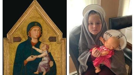 Mia Vicchiarelli, right, used her favorite baby doll