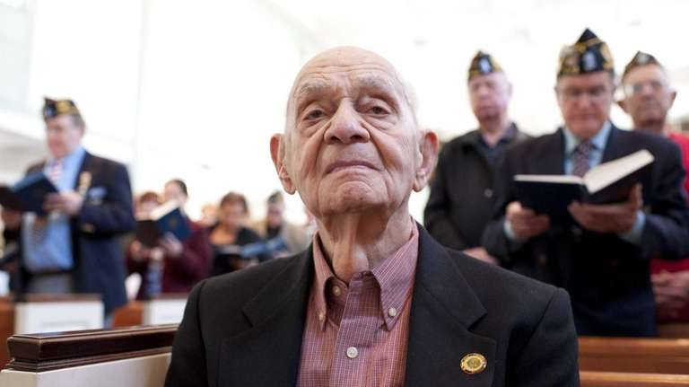 Ben Epstein attends a ceremony at the Bellmore
