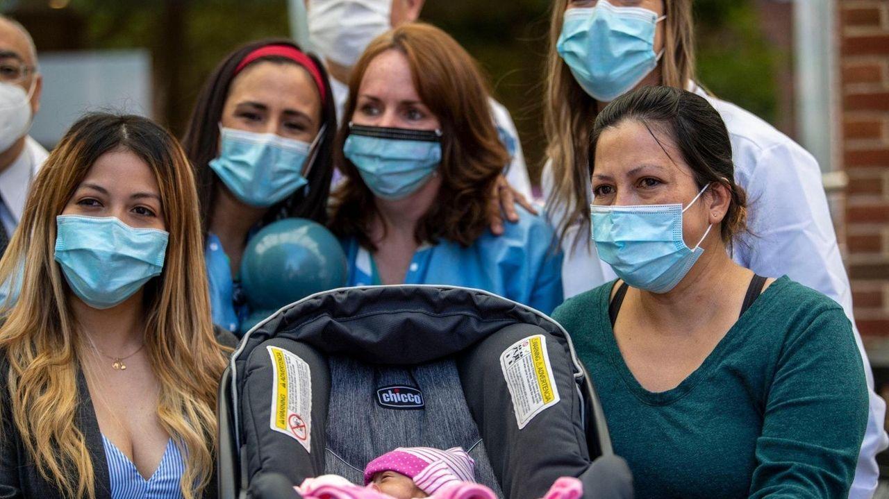Adriana Torres, of Hempstead, took her baby daughterLeah