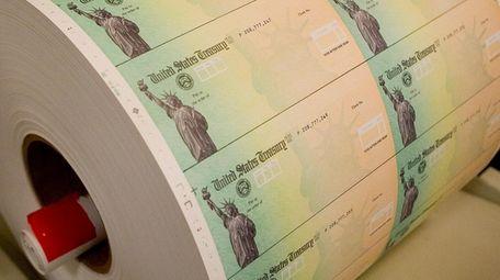 Economic stimulus checks are prepared for at the