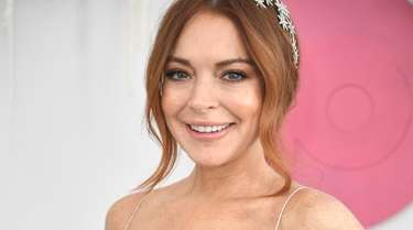 Lindsay Lohan attends the Network 10 marquee
