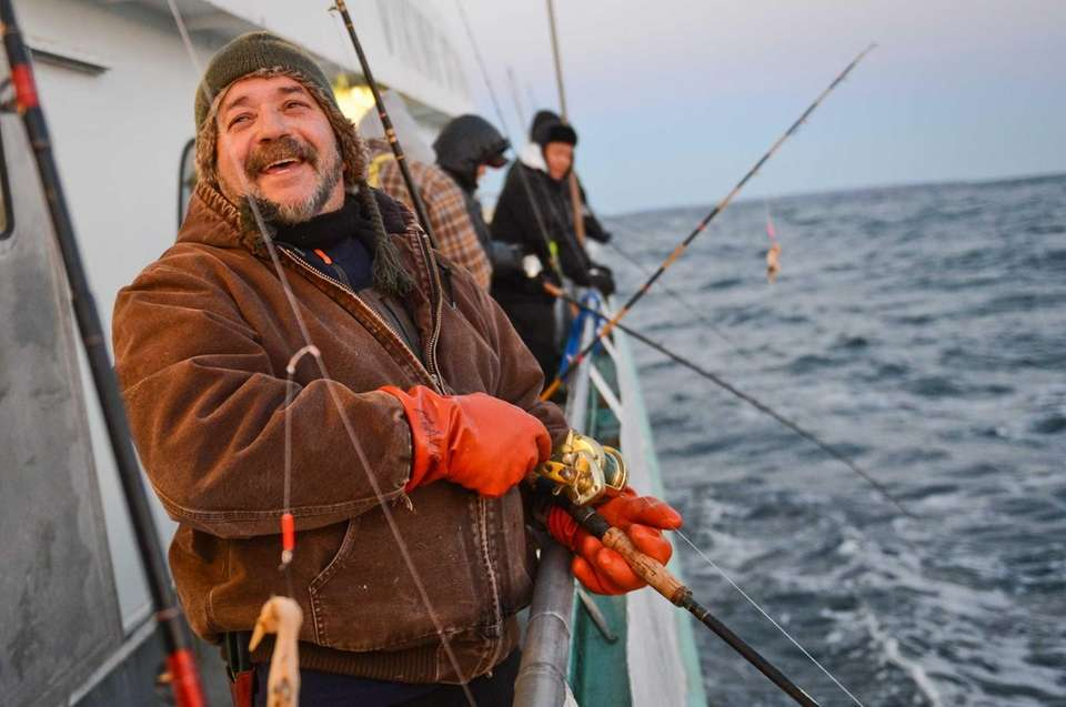 Mavros Benis of Montauk laughs as he waits