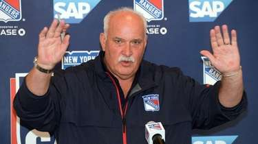 Rangers president John Davidson during a news conference