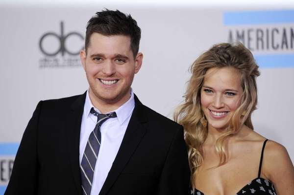 Michael Buble and Luisana Lopilato at the 38th