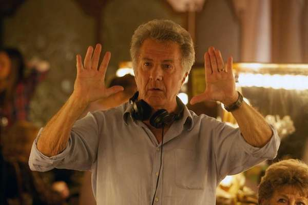 "Director Dustin Hoffman on the set of ""Quartet."""