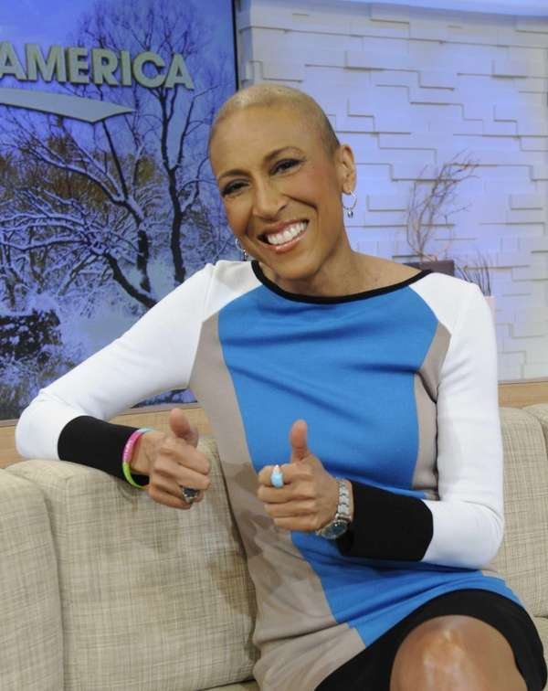 """Good Morning America? co-host Robin Roberts on set"