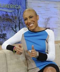 "quot;Good Morning America"" co-host Robin Roberts on set"