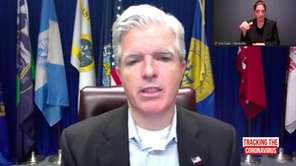 Suffolk County Executive Steve Bellone spoke at his