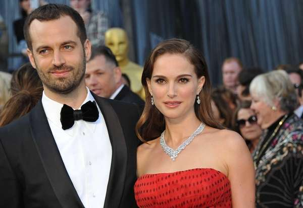 Natalie Portman and her husband, Benjamin Millepied, on