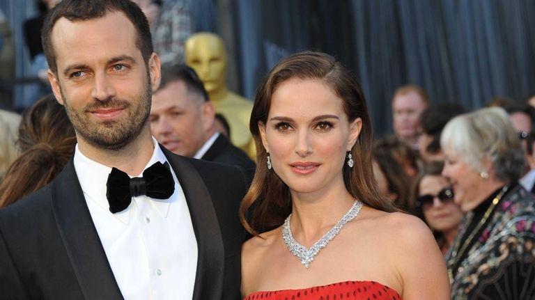Natalie Portman and her husband, Benjamin Millepied, on