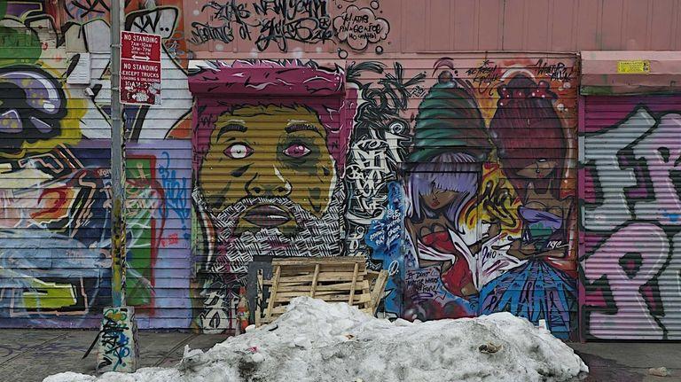 Grafitti on a warehouse in Long Island City,