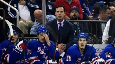 Head coach David Quinn of the Rangers looks