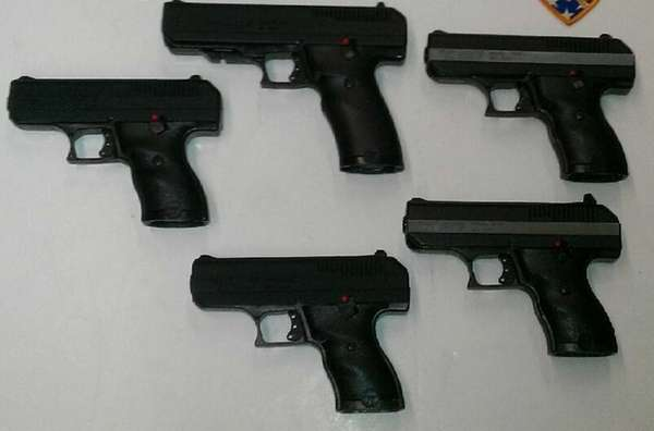 Guns seized by the NYPD as part of