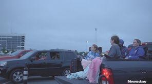 Moviegoers gathered outside of NYCB Live's Nassau Coliseum