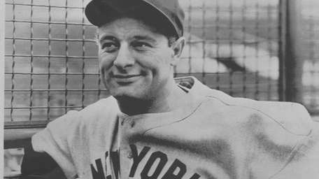 An undated photo Yankees legend Lou Gehrig.