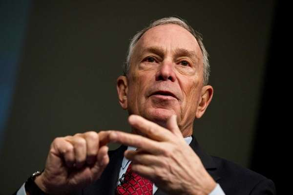 Mayor Michael Bloomberg showed up to a forum