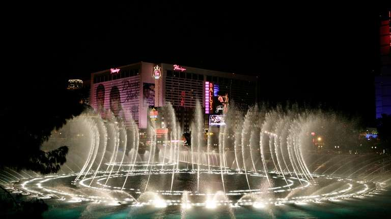 The fountains of Las Vegas' Bellagio hotel and