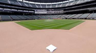Second base sits in its place in an