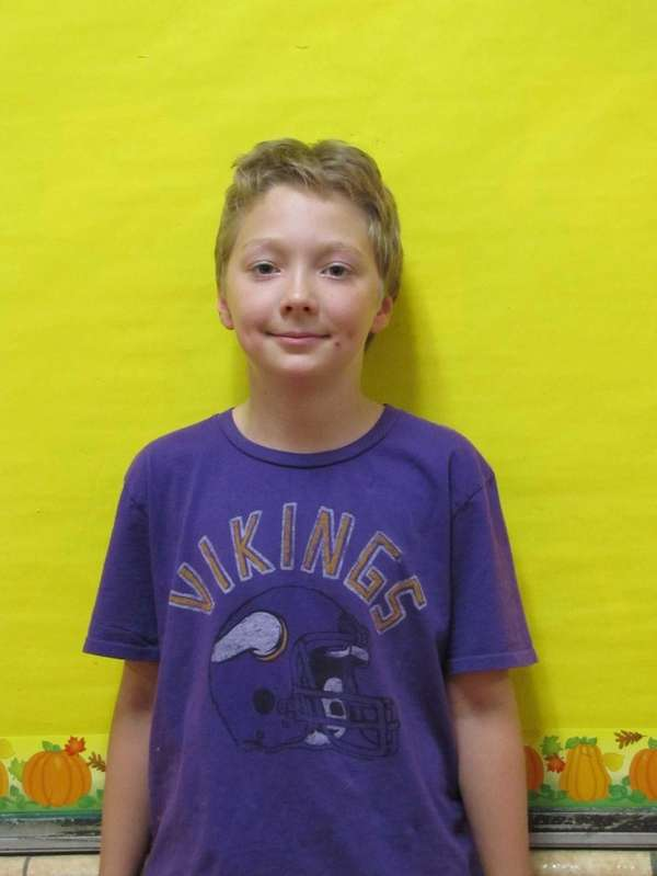 Fourth-grade student William Winski, at Jackson Avenue Elementary