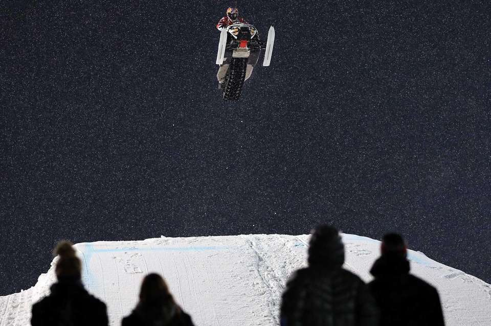 Levi LaVallee goes airborne en route to winning
