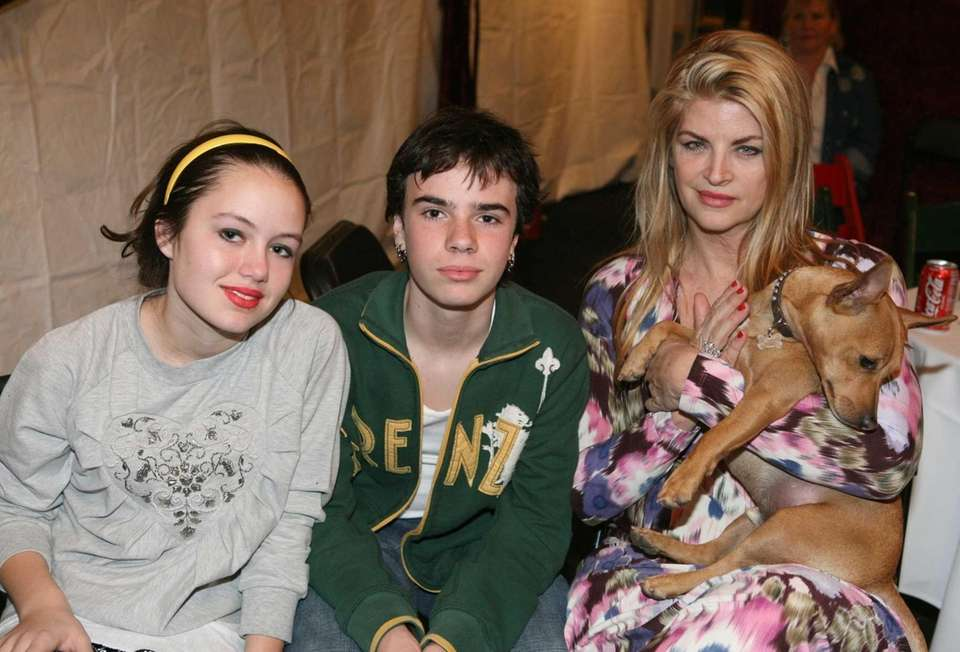 Kirstie Alley and her children Lillie and True