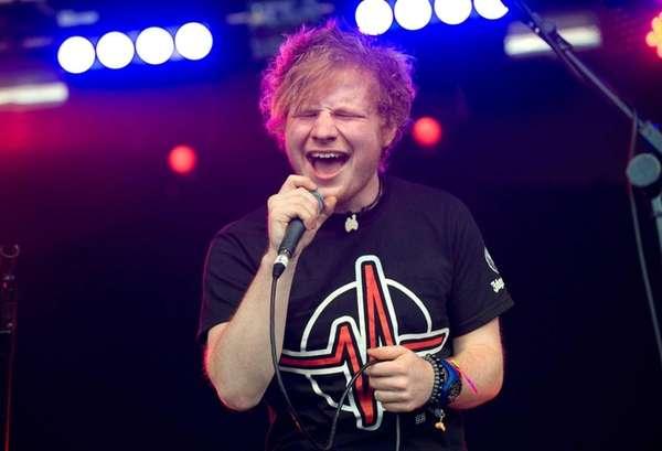 Pictured, Ed Sheeran performs on day 1 of