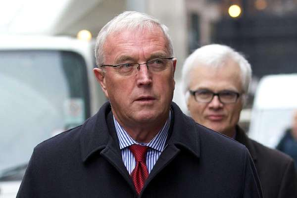 Embattled Irish UCI president Pat McQuaid arrives to