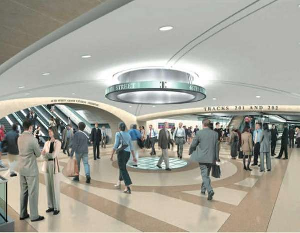 A rendition of the new terminal that will