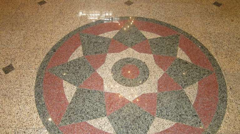 This complex pattern created from pieces of granite