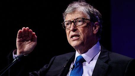 American businessman and philanthropist Bill Gates at the