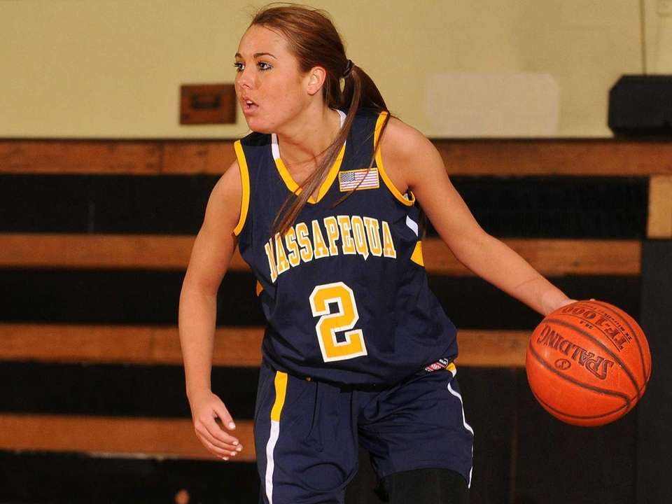 Massapequa's Danielle Doherty looks to make a pass