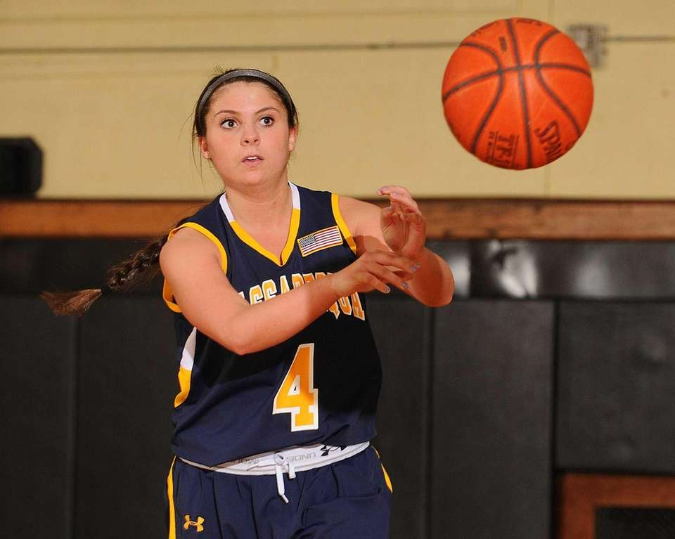 Massapequa's Sabrina Fregosi delivers a pass in the