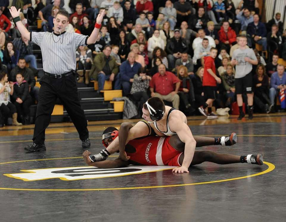 Sachem North's Matt Marino, top, wins 5-3 against