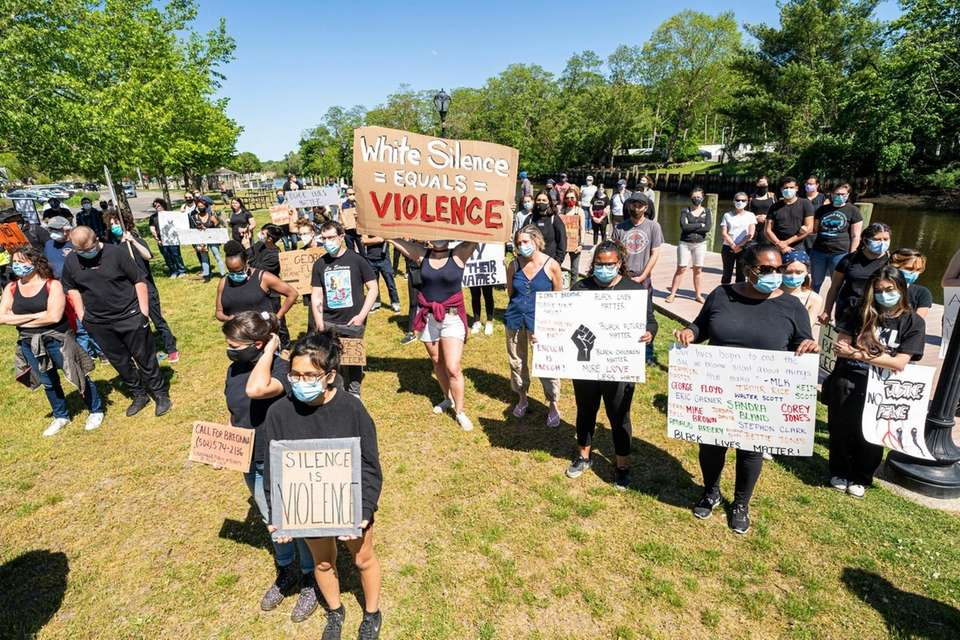 More than 300 demonstrators march in Riverhead on