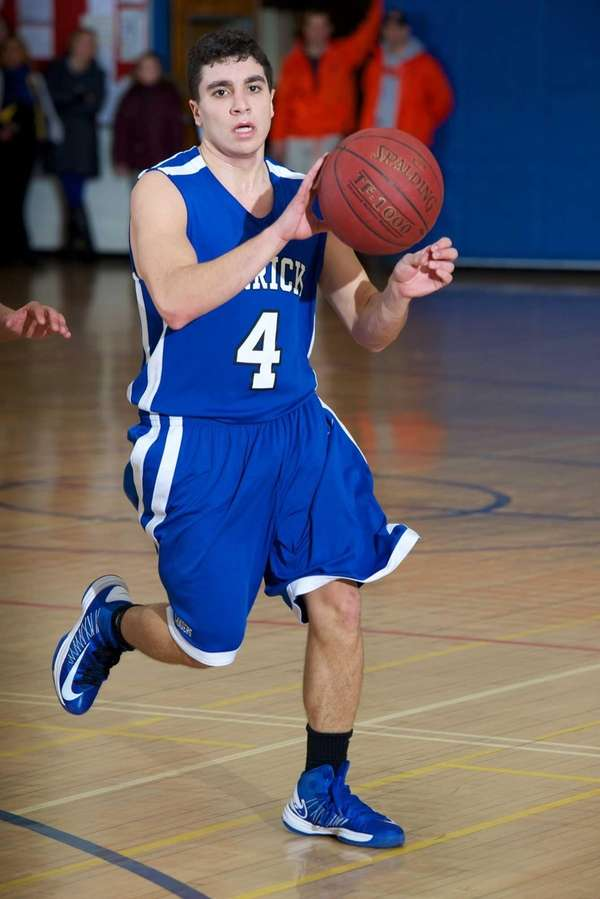 Herricks guard Andrew Fellus sets up a play