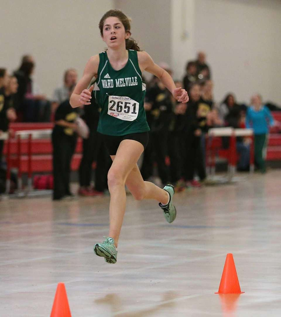 Ward Melville's Courtney Williams wins the 3000-meter run