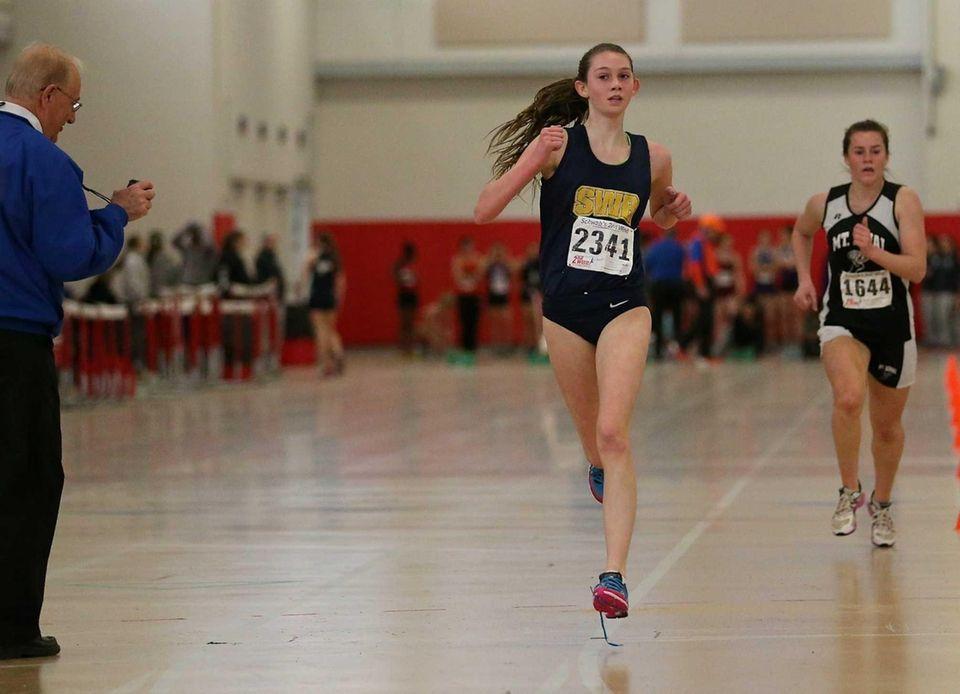 Shoreham-Wading River's Kaitlyn Ohrtman wins the 3000-meter run