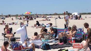 Social distancing wasn't an issue at Jones Beach
