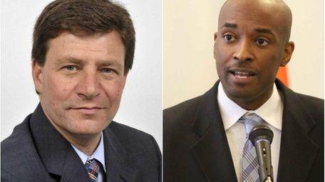 Nassau County legislators Dave Denenberg (D-Merrick) and Kevan
