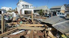 Houses damaged by superstorm Sandy on Nov. 4,