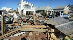 Houses damaged by superstorm Sandy on Nov. 4,